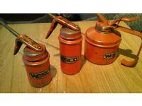 vintage wesco oil cans x3