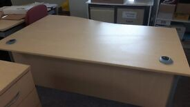 Maple office desks 80 pounds each