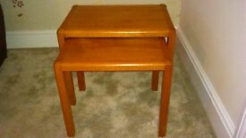 Nest of 2 tables - Danish - very good condition