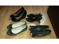 4 x Shoes / Sandals Pumps Size 7