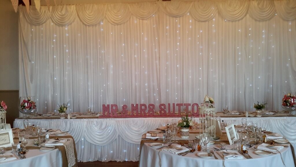 Wedding Chair Cover Sashes Starlit Backdrop Love Letters