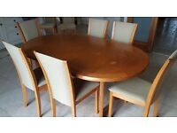 Extendable Dining Table & Matching Chairs