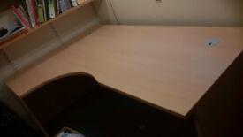 Beechwood Corner Desk in perfect condition 1800mm x 1200mm