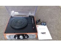 1 by One Stereo Turntable with facility to record vinyl to mp3 complete with instructions. As new.