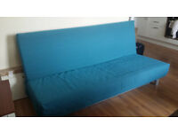 IKEA Three Seat Sofa Bed BEDDINGE with underbed storage and cover
