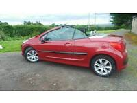 Peugeot 207 convertible, metallic red