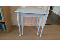 Duck egg blue painted nest of tables