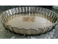 Very large glass flan dish