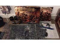 Warhammer Age of Sigmar starter set and black spray paint