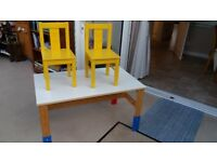 Childs Table with 2 Chairs For Sale Good Condition Suitable for 3 to 7 years old