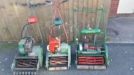 Vintage lawn mowers
