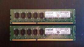 Crucial 4 x 4GB PC3 12800 DDR3-1600MHz 240PIN DIMM Desktop Memory RAM - DS