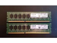 Crucial 4 x 4GB PC3 12800 DDR3-1600MHz 240PIN DIMM Desktop Memory RAM - DS