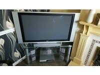 TV, DVD player with surround sound & Stand