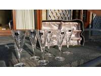 6x Royal Doulton Fine Crystal Champagne Flutes