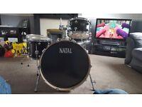 Natal arcadia 5 piece birch drum kit NEW