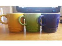 Set of 3 Le Creuset stoneware espresso mugs - worth £12 each! Bargain!