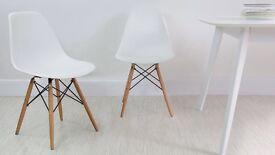 Eames White Chair x2