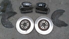 VOLKSWAGEN VW MK7 GOLF R FULL BRAKE SET UP OF 4 DISCS PADS CALIPERS UPGRADE