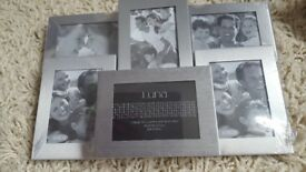 "2 x multi PHOTO FRAMES 11"" x 7"" BRAND NEW BOXED"