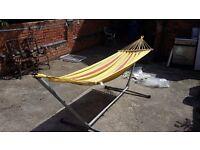 Swinging hammock .used once
