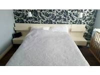 IKEA Malm Double Bed with 2 Floating Bedside Cabinets