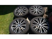 16 inch alloy wheels with tyres, VW, AUDI, SEAT, SKODA.