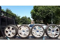 FORD MONDEO OR GALAXY ALLOY WHEELS AND TIRES. 225/40 R18 92W
