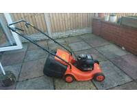 Flymo self propelled petrol lawnmower. Briggs and Stratton engine