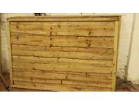 🌟 Superb Quality Heavy Duty Waneylap Timber Fence Panels Pressure Treated 10mm Boards