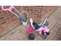 Kids Avigo Body Trike Bike in Pink with Parent Handle