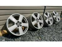 "GENUINE AUDI SLINE RONAL 18"" ALLOY WHEELS 5X112"