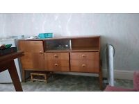 1950s sideboard and display cabinet