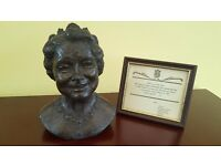 Queen Mother Bust (Limited Edition Bronze Resin By Jill Tweed)