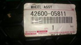 Toyota auris space saver spare wheel