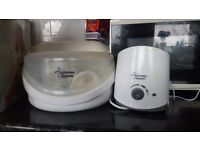 Used Tommee tippee steriliser and Brand new Boots electric steam steriliser