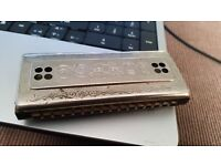 Vintage Hohner Echo double sided harmonica