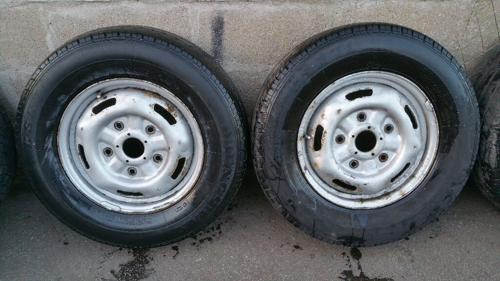 Ford transit 16 steel wheels 2 x tyres 215 75 16