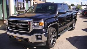 2015 GMC Sierra 1500 SLT CREW CAB 4X4, SUNROOF, LEATHER, NAV, 22