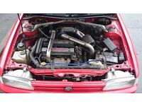 Toyota corolla gti (Toyota MR2 supercharged engine swap) in super red