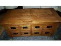 Toulouse Storage Solid Oak Wood Coffee Table.....