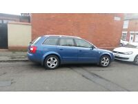 Audi A4 estate 1.9 TDI manual 6 speed drives very well needs e let bet of body work