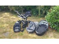 Quinny Buzz complete travel system (push chair, car seat, carrycot etc.)