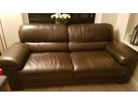 3 Seater leather Sofa and Chair