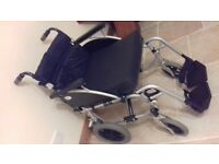 Wheelchair with matching seat pad