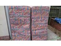 2x single 3 foot mattresses for sale