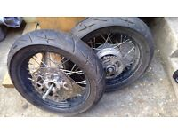 Super moto wheels for selling in good working order