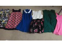 6 different girls summer dresses. From Next, M&S, Debenhams. Fits age 7-9