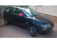 2006 SEAT IBIZA FR 1.8 TURBO 20v 150. Black. MOT March 2017. 3 Door Hatchback