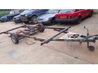 Trailer, caravan chassis. . Approx 12ft X 6FT... Only £50